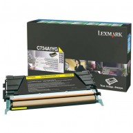Toner Lexmark C734 Yellow [6000 str.]