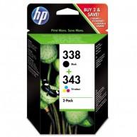 Tusz HP 338+343 DJ 5940/D5160 [1x532, 1x260 str.]