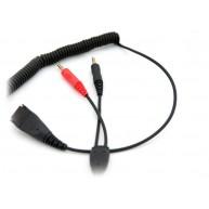 Kabel do słuchawek Axtel QD/2 x 3,5 mm jack