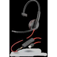 Słuchawki Plantronics Blackwire 3215 Jack + USB-A