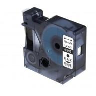 Taśma zamienna do Dymo D1 45013 cz/b 12mm/7m
