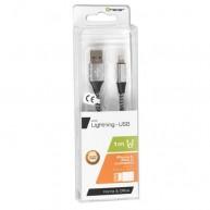 Kabel TRACER USB 2.0 iPhone AM-lightning 1m cza/sr